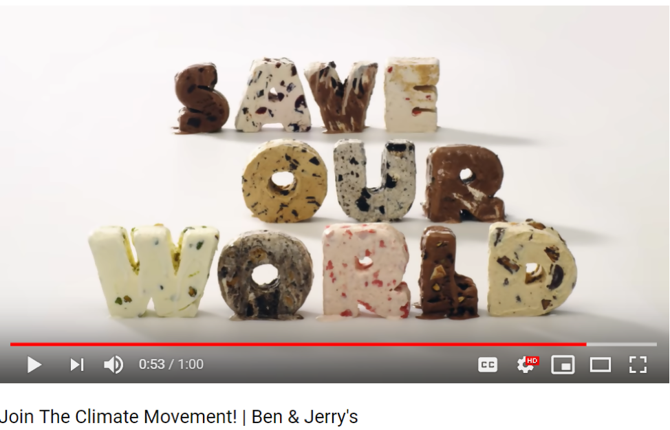 Ben & Jerrys Save Our World
