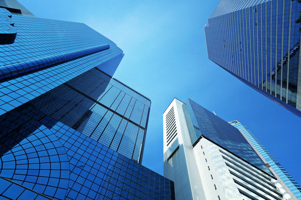 Corporate building to sky
