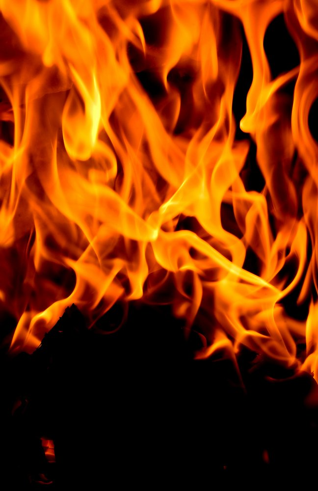 abstract blur of a fire - close up